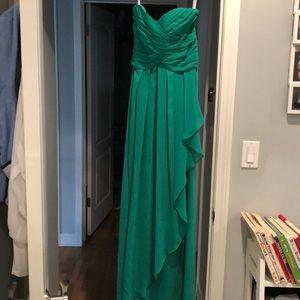 Green Bridesmaids Dress (David's Bridal) Worn Once